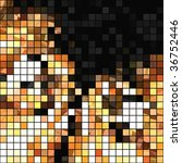 seamless mosaic tiles abstract | Shutterstock . vector #36752446