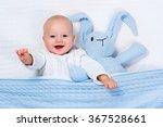 funny little baby wearing a... | Shutterstock . vector #367528661