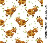 cartoon cow on a white... | Shutterstock .eps vector #367532921