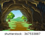 Nature Scene Of Cave And Trail...