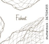 Fishing Net Background. Fish...