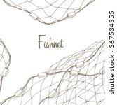 Fishing Net Background.