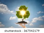 recycle concept on tray   Shutterstock . vector #367542179