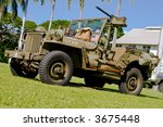 Vintage Army Wwii Jeep On...