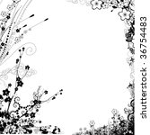 flower frame | Shutterstock . vector #36754483