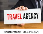 travel agency  message on white ... | Shutterstock . vector #367548464