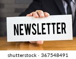 newsletter  message on white... | Shutterstock . vector #367548491