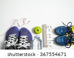mens and kid fitness shoes with ... | Shutterstock . vector #367554671