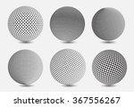 Set Of Halftone Sphere.halfton...