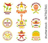 mexican food logo  labels ... | Shutterstock .eps vector #367562561