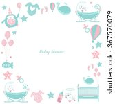 circle baby frame. cute... | Shutterstock .eps vector #367570079