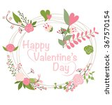 valentine s day card. vector... | Shutterstock .eps vector #367570154