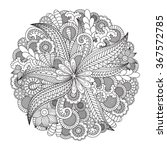 Round Floral Pattern For...