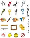 symbols tools | Shutterstock .eps vector #36758113