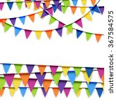 colored garlands background... | Shutterstock .eps vector #367584575