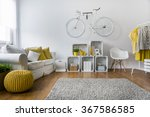 modern living room with sofa ... | Shutterstock . vector #367586585