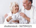 happy elder marriage relaxing... | Shutterstock . vector #367594121