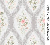 seamless floral pattern with... | Shutterstock .eps vector #367594664