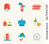 set of linear london icons.... | Shutterstock .eps vector #367594709