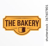vintage retro bakery logo badge | Shutterstock .eps vector #367607801
