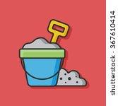 sand bucket vector icon | Shutterstock .eps vector #367610414