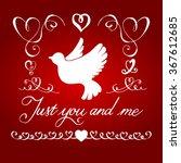 valentines day  handdrawn...   Shutterstock .eps vector #367612685