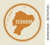 stamp with the name and map of... | Shutterstock .eps vector #367614161