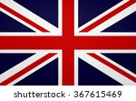 closeup of great britain flag | Shutterstock . vector #367615469
