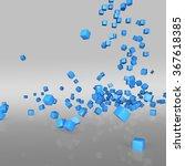 abstract 3d rendering. falling... | Shutterstock . vector #367618385