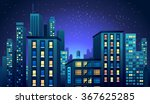 cityscape at night | Shutterstock .eps vector #367625285