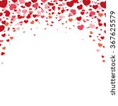 red hearts confetti on the... | Shutterstock .eps vector #367625579