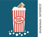 popcorn box flat illustration.... | Shutterstock .eps vector #367628219