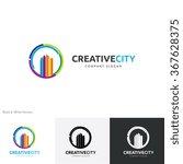 creative city logo vector logo...   Shutterstock .eps vector #367628375