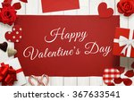 happy valentines day scene with
