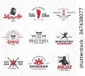 set of japan ninjas logo.... | Shutterstock .eps vector #367638077