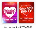 set of valentine's day party... | Shutterstock .eps vector #367645031