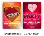 set of valentine's day party... | Shutterstock .eps vector #367645034