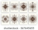 set of geometric abstract... | Shutterstock .eps vector #367645655