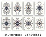 set of geometric abstract... | Shutterstock .eps vector #367645661