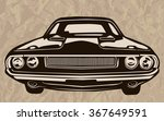 retro muscle cars inspired... | Shutterstock .eps vector #367649591