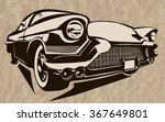 vintage muscle cars inspired... | Shutterstock .eps vector #367649801