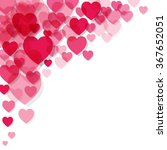 valentine's day background with ... | Shutterstock .eps vector #367652051