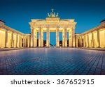 Stock photo classic view of famous brandenburger tor brandenburg gate one of the best known landmarks and 367652915