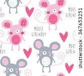Seamless Mouse Love Pattern...
