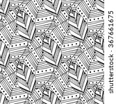 Doodle Seamless Pattern With...