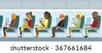 Various Airplane Passengers On...