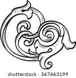 vintage acanthus leaf is... | Shutterstock .eps vector #367663199