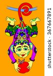 line art drawing of ethnic...   Shutterstock . vector #367667891