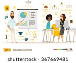 business characters set | Shutterstock .eps vector #367669481