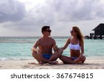 he and she on the beach | Shutterstock . vector #367674815